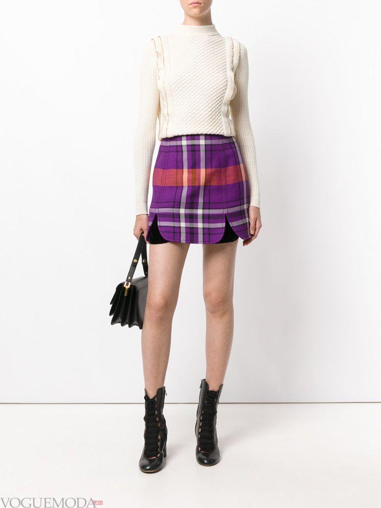 фиолетовая юбка мини