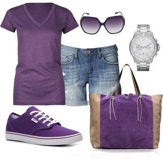 аксессуары к фиолетовому образу
