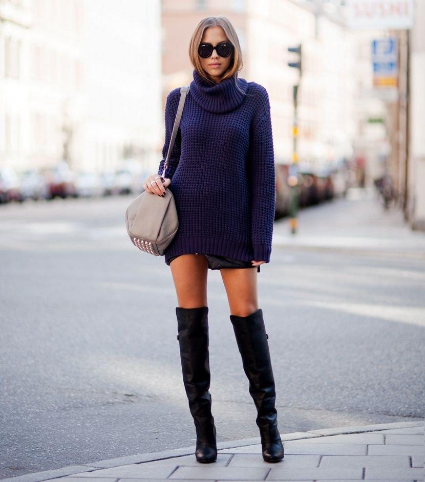 С чем носить ботфорты без каблука