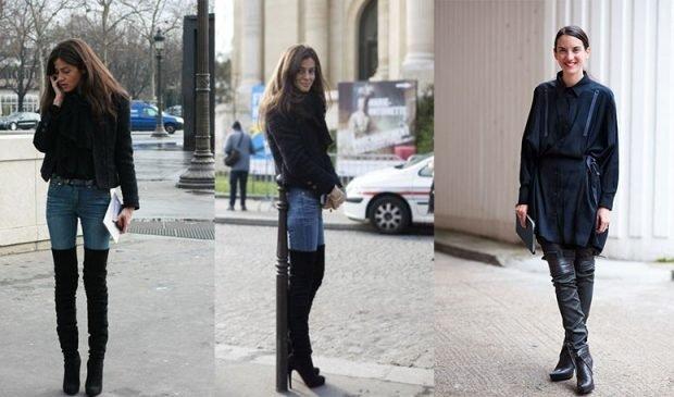 Луки с которыми стоит носить ботфорты-чулки