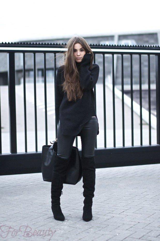 под что носить черные сапоги
