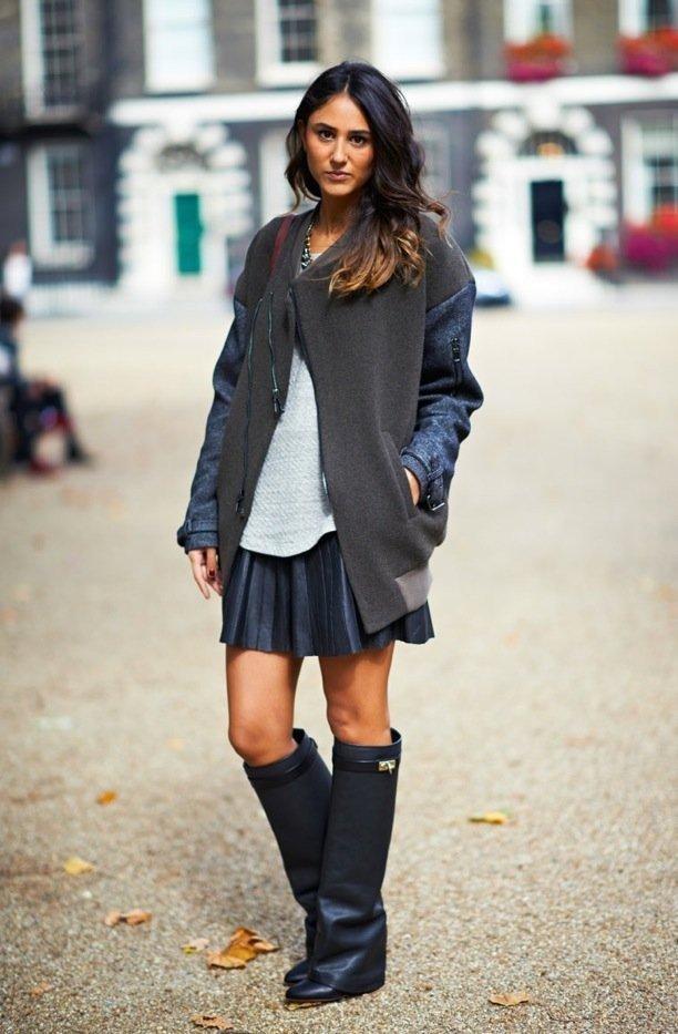 Луки с которыми стоит носить сапоги без каблука