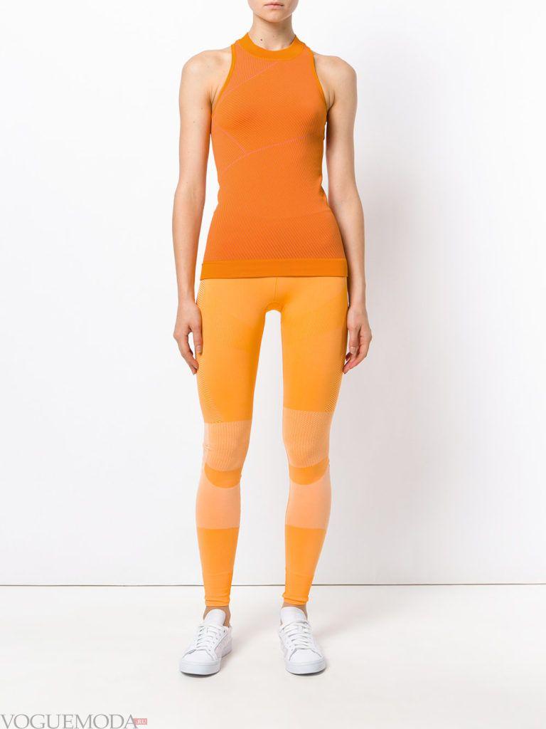 Спортивный женский стиль: желтый лук от Адидас