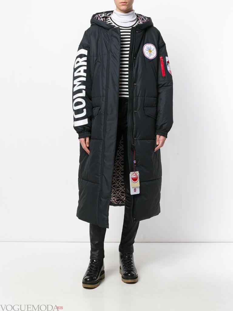 Женский спортивный стиль: пальто черное