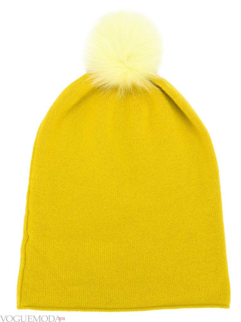 спортивная шапка желтая