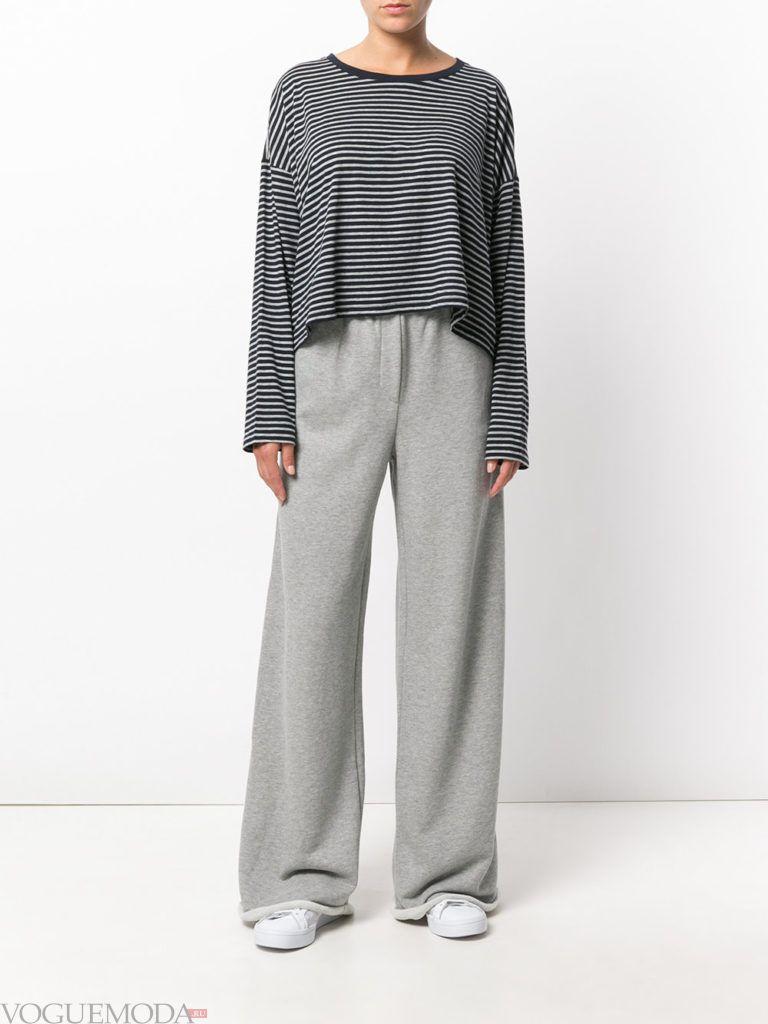 Спортивный женский стиль: лук с брюками