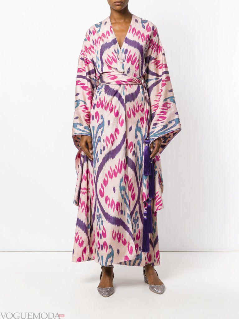 стильное платье в форме А образа длинное