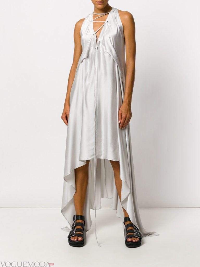 платье в пижамном стиле шелковое