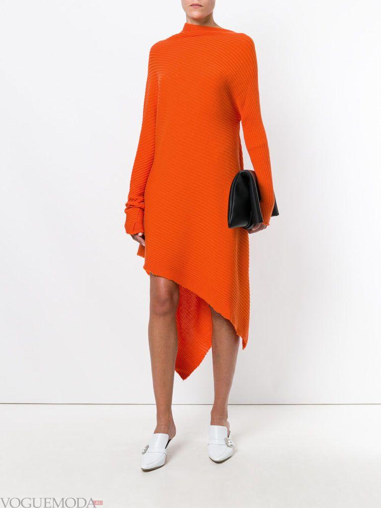 стильное платье хай лоу яркое