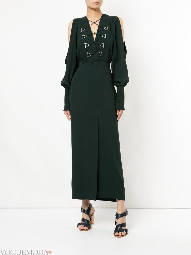 платье в викторианском стиле черное