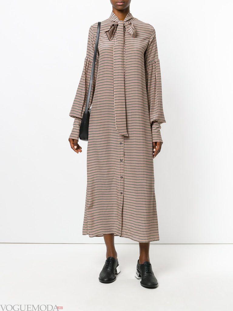 платье в викторианском стиле с принтом