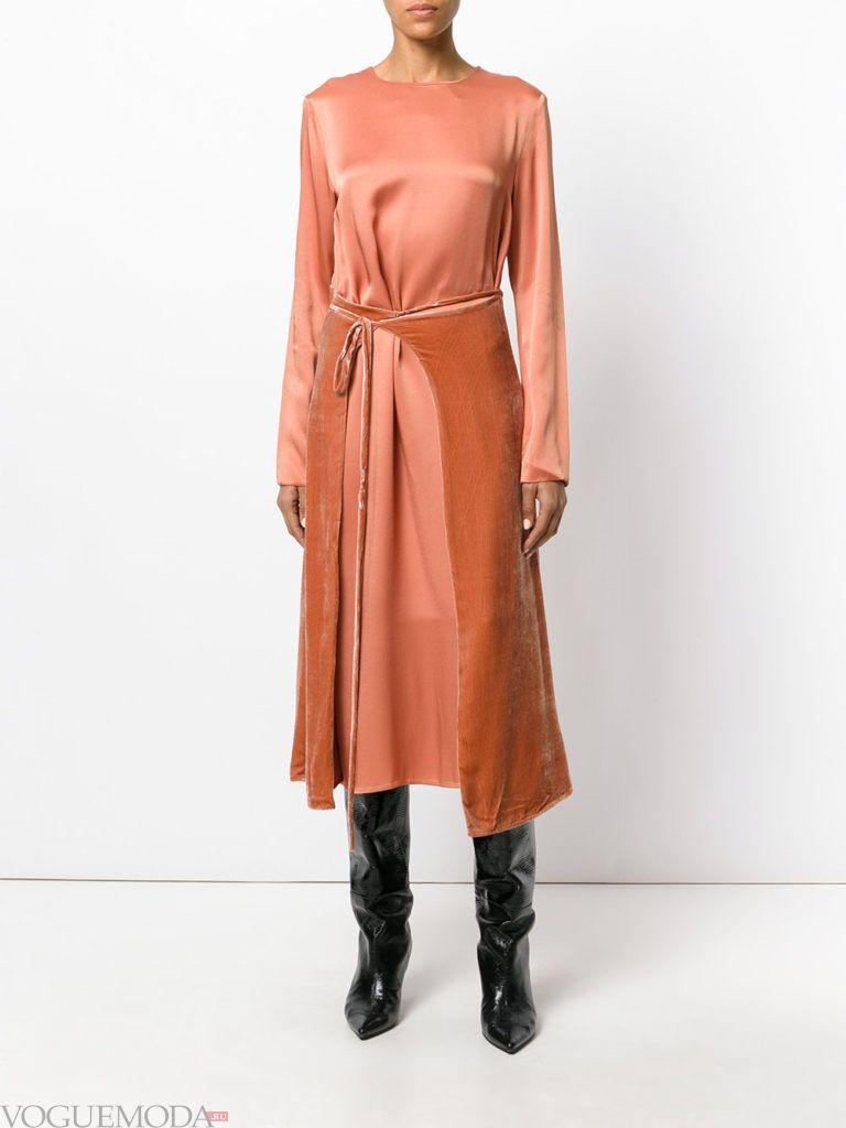 платье в викторианском стиле персиковое