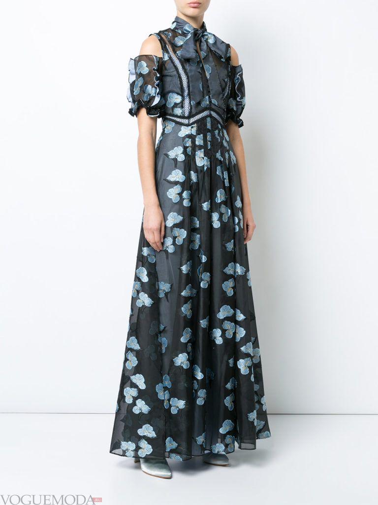 стильное платье темное