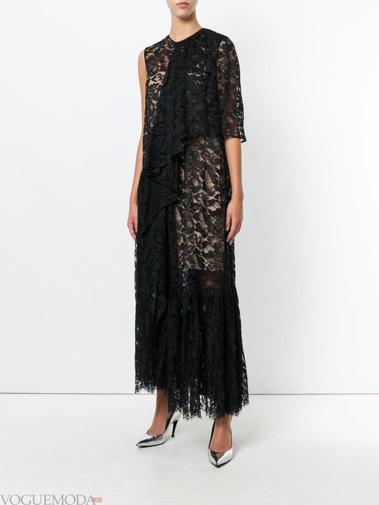 стильное платье черное