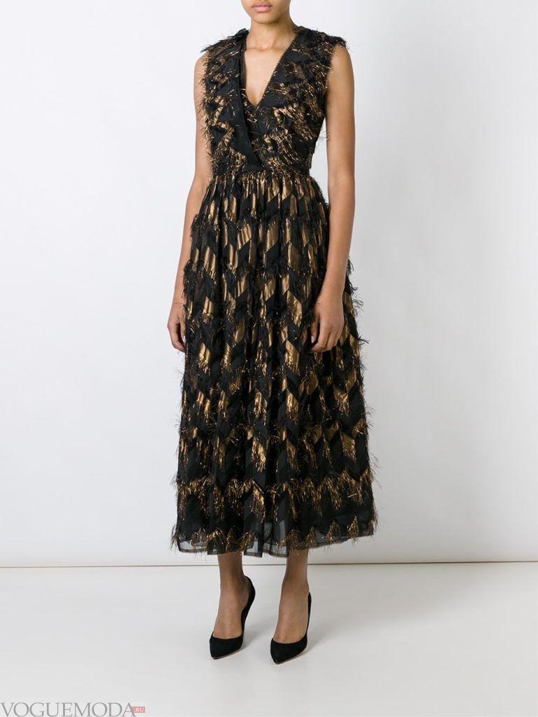 стильное платье с декором