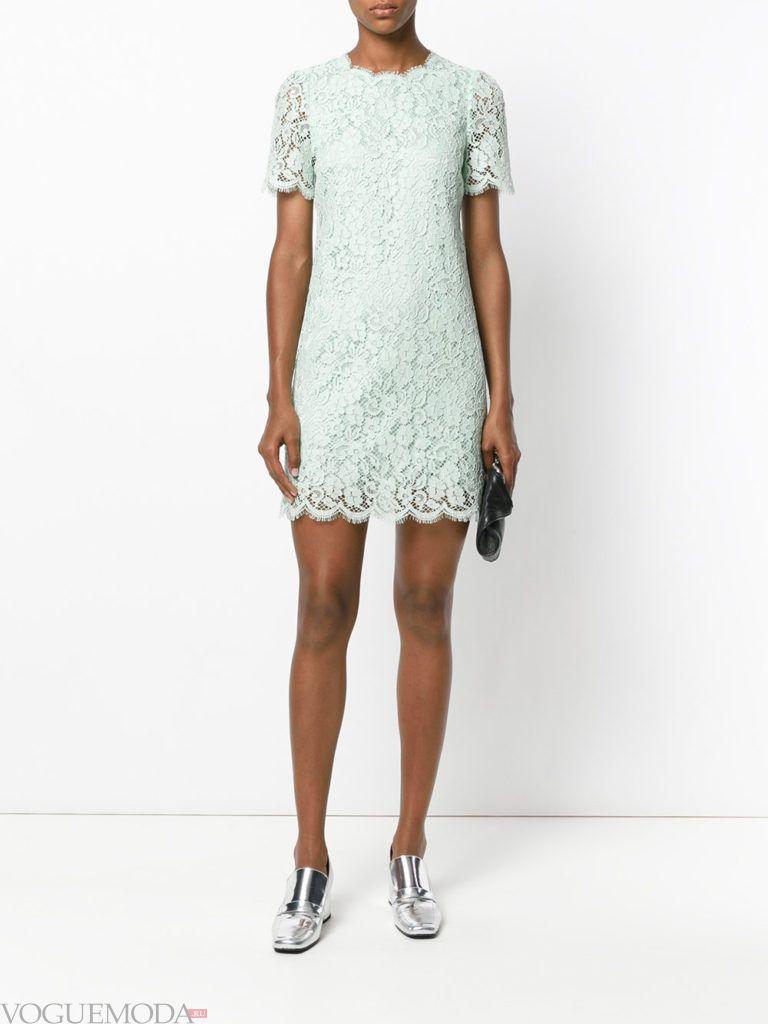 стильное платье кружевное