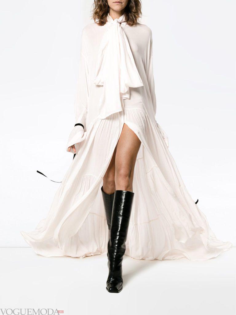 стильное платье с бантом