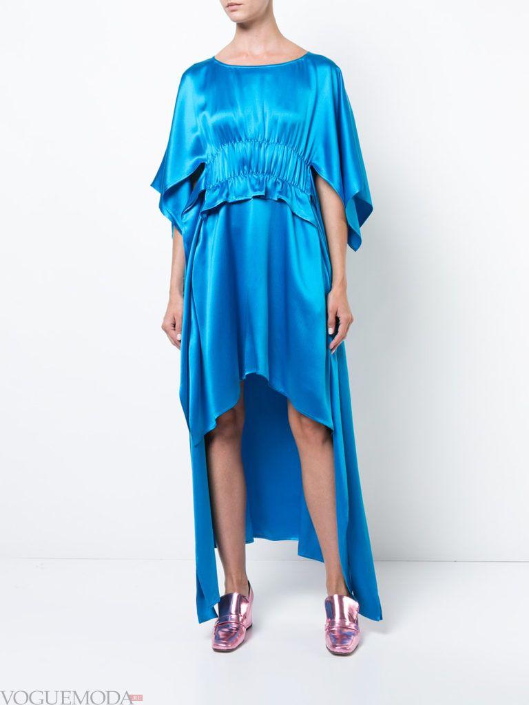 стильное платье с асимметрией яркое
