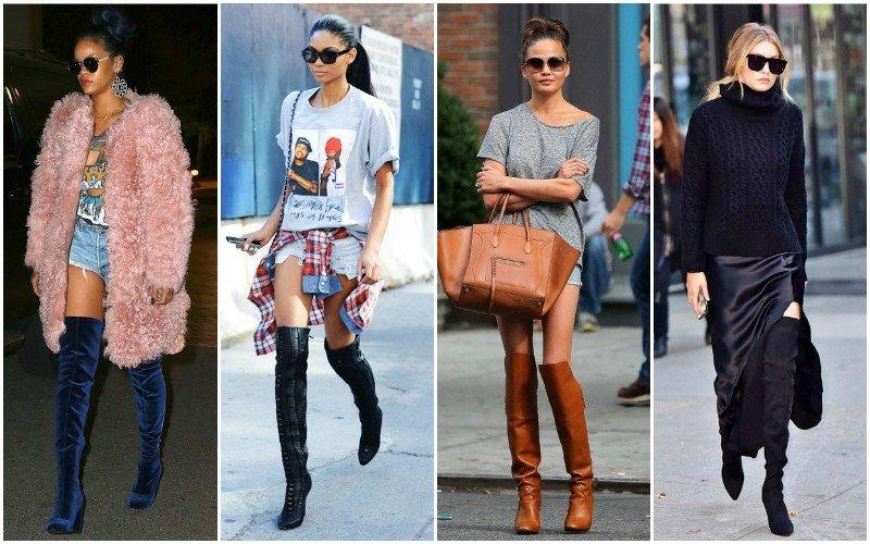 уличная мода ботфорты разжные