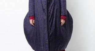 уличная мода пальто-оверсайз синее