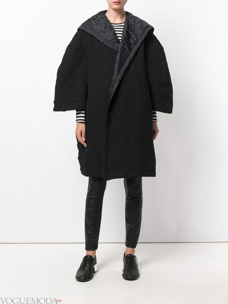 уличная мода пальто-оверсайз темное