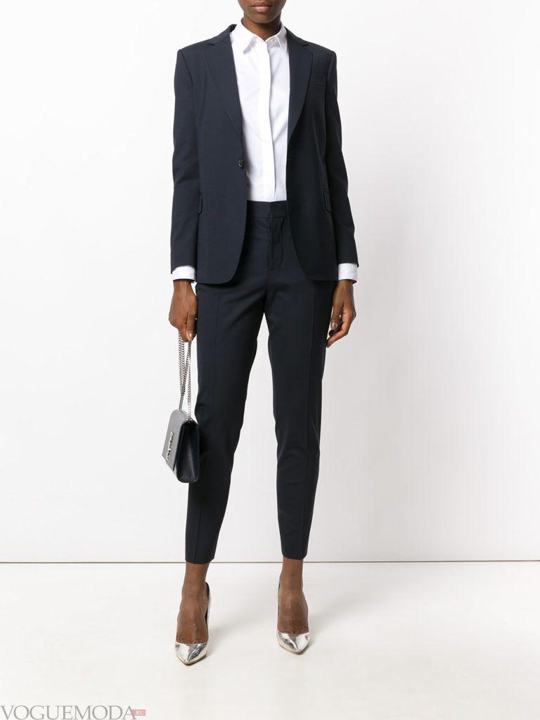 уличная мода брючный костюм черный