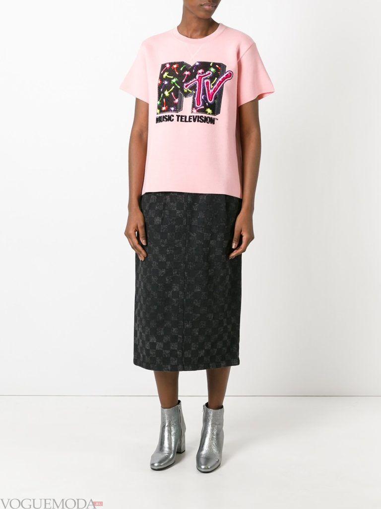 уличная мода юбка в клетку