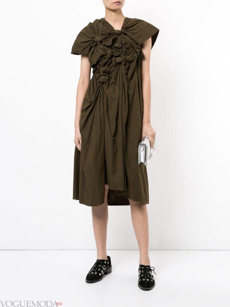 уличная мода платье зеленое