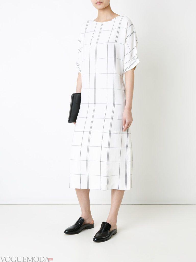 уличная мода платье в клетку