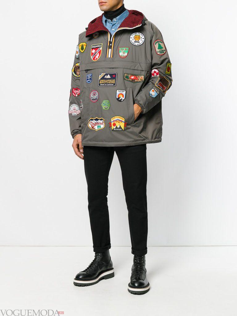 мужская уличная мода куртка