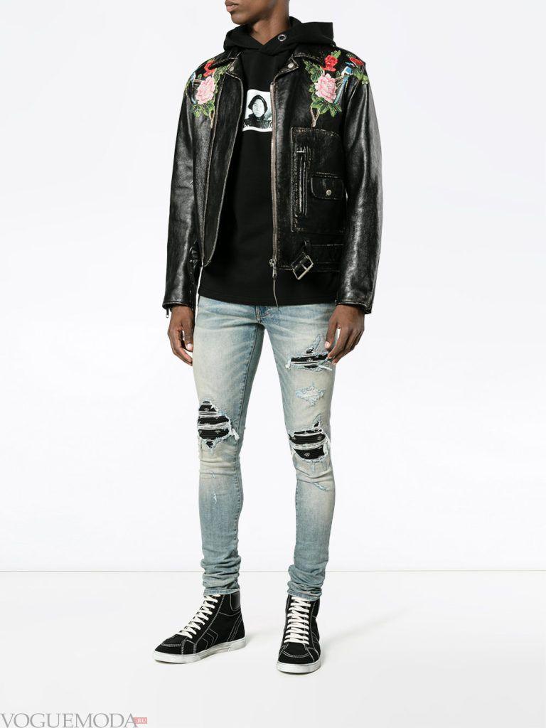 мужская уличная мода джинсы