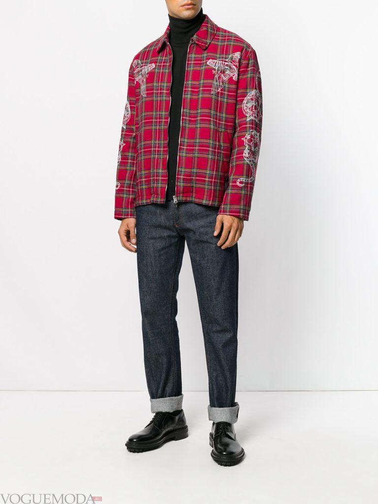 мужская уличная мода рубашка