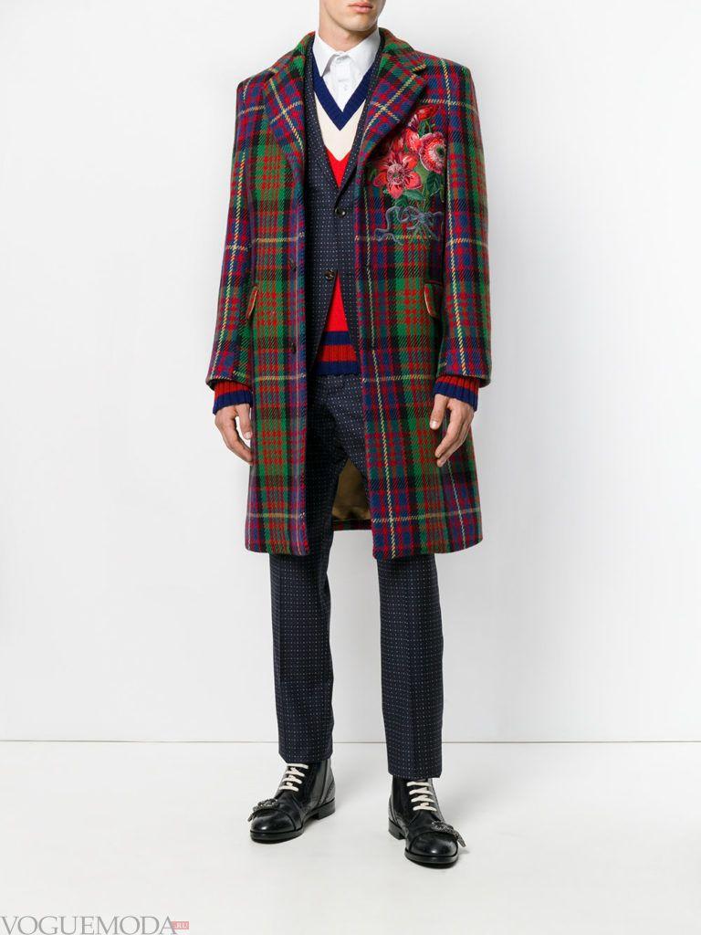 мужская уличная мода пальто