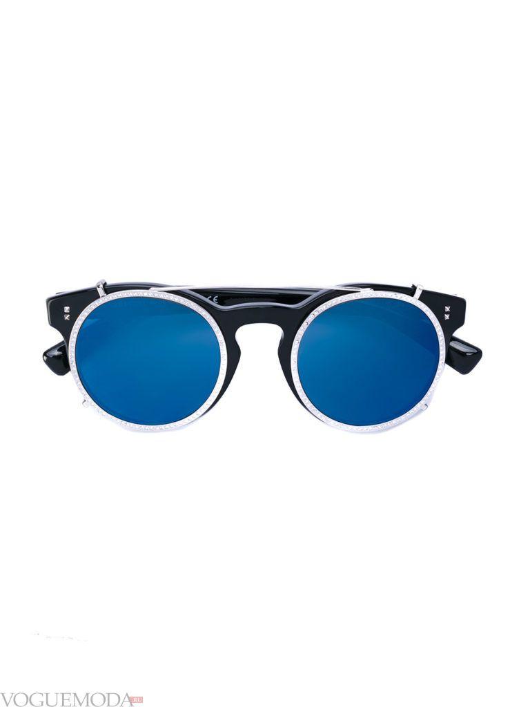 уличная мода солнцезащитные очки синие