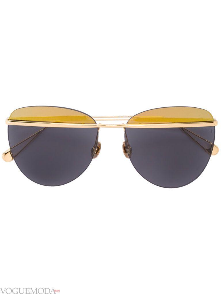 уличная мода солнцезащитные очки двухцветные