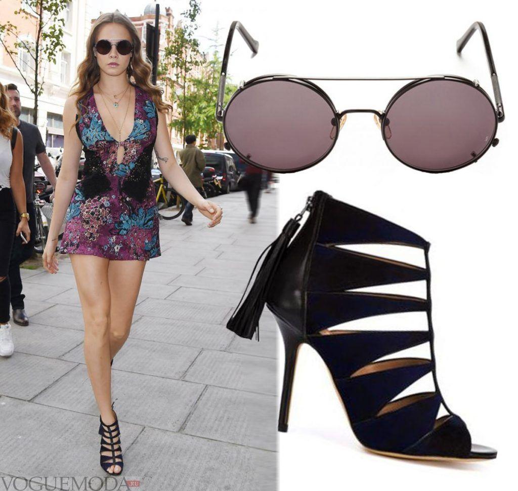 уличная мода лук солнцезащитными очками