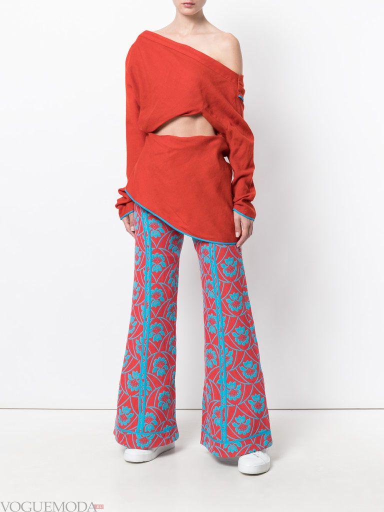 креативный уличный лук с брюками
