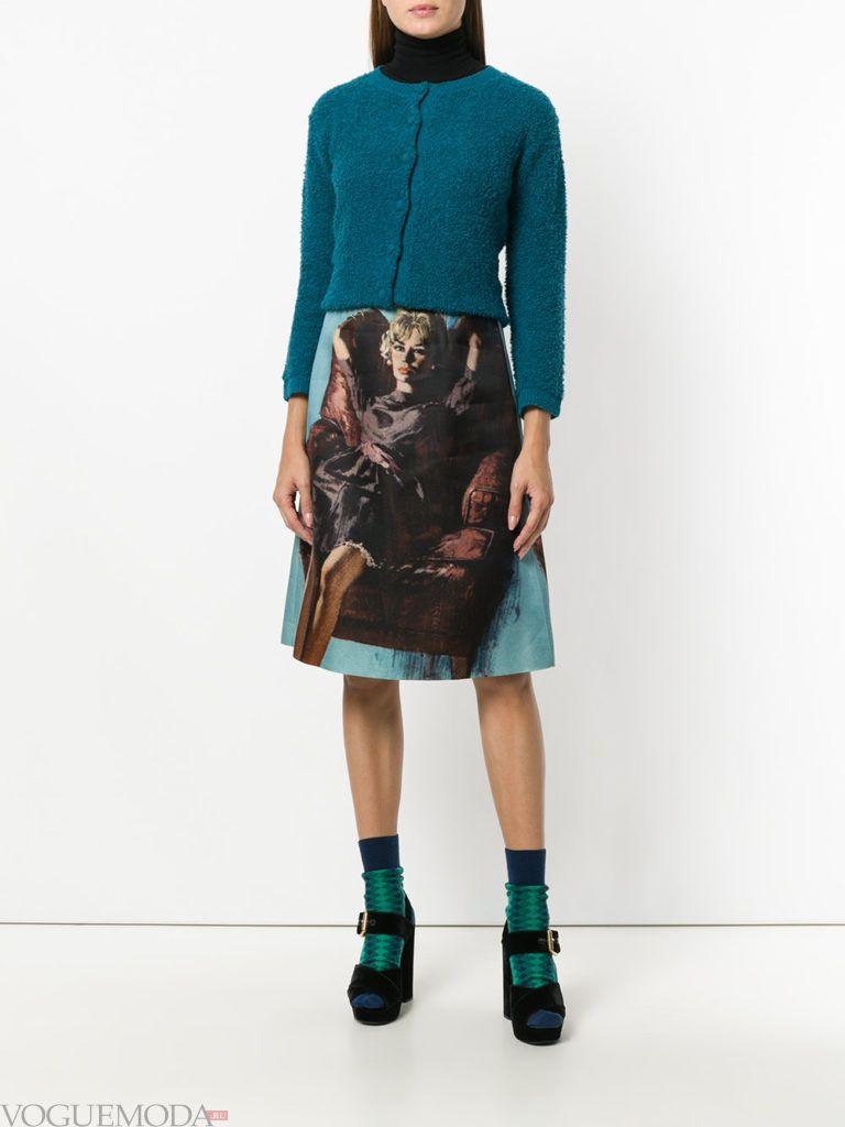 креативный уличный лук с юбкой