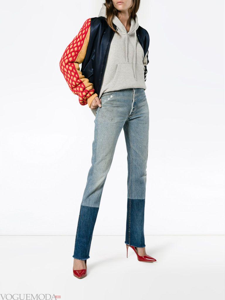 джинсы свитер