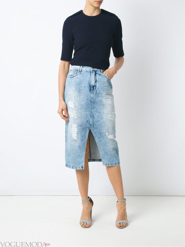 джинсовая юбка кофта