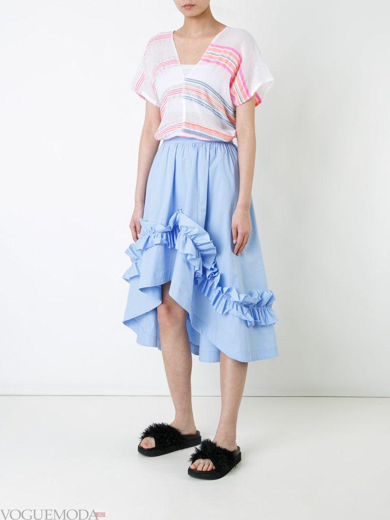 модная блуза в полоску
