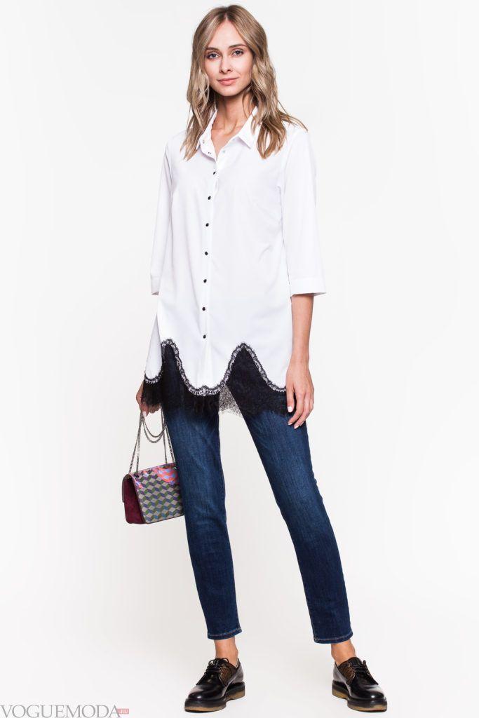 модный уличный лук с блузой