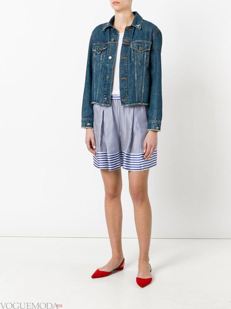 модная юбка в полоску