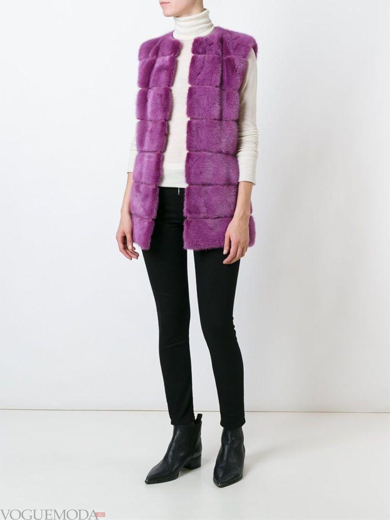 модный фиолетовый мех