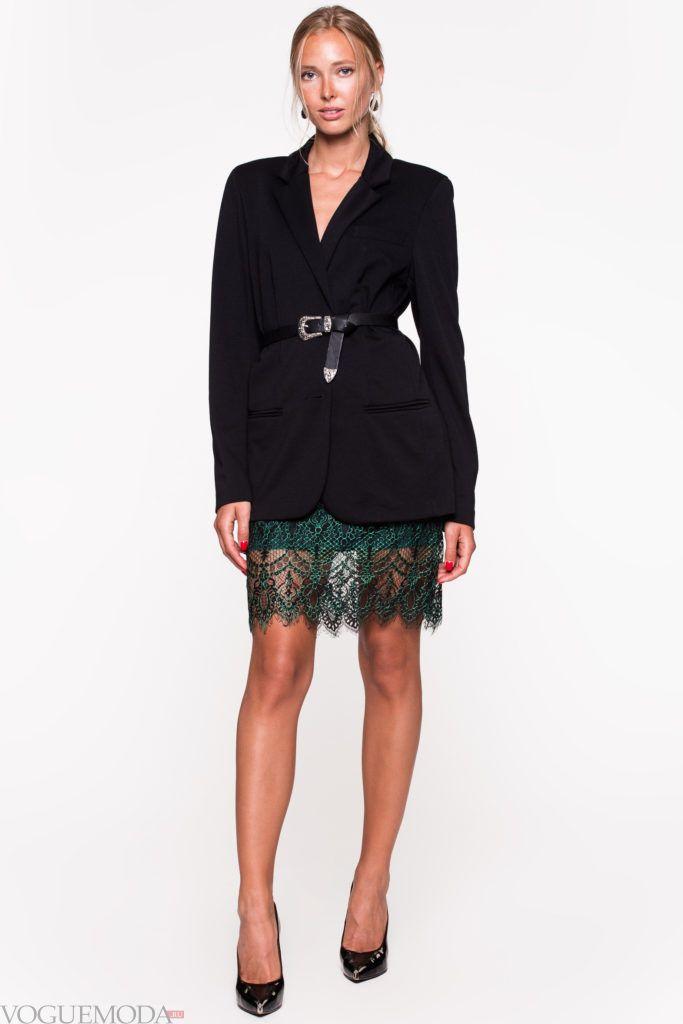модный уличный лук с пиджаком
