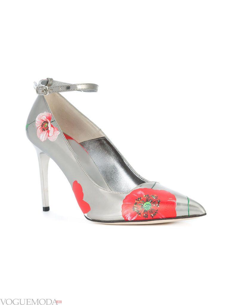 модные уличные туфли с принтом