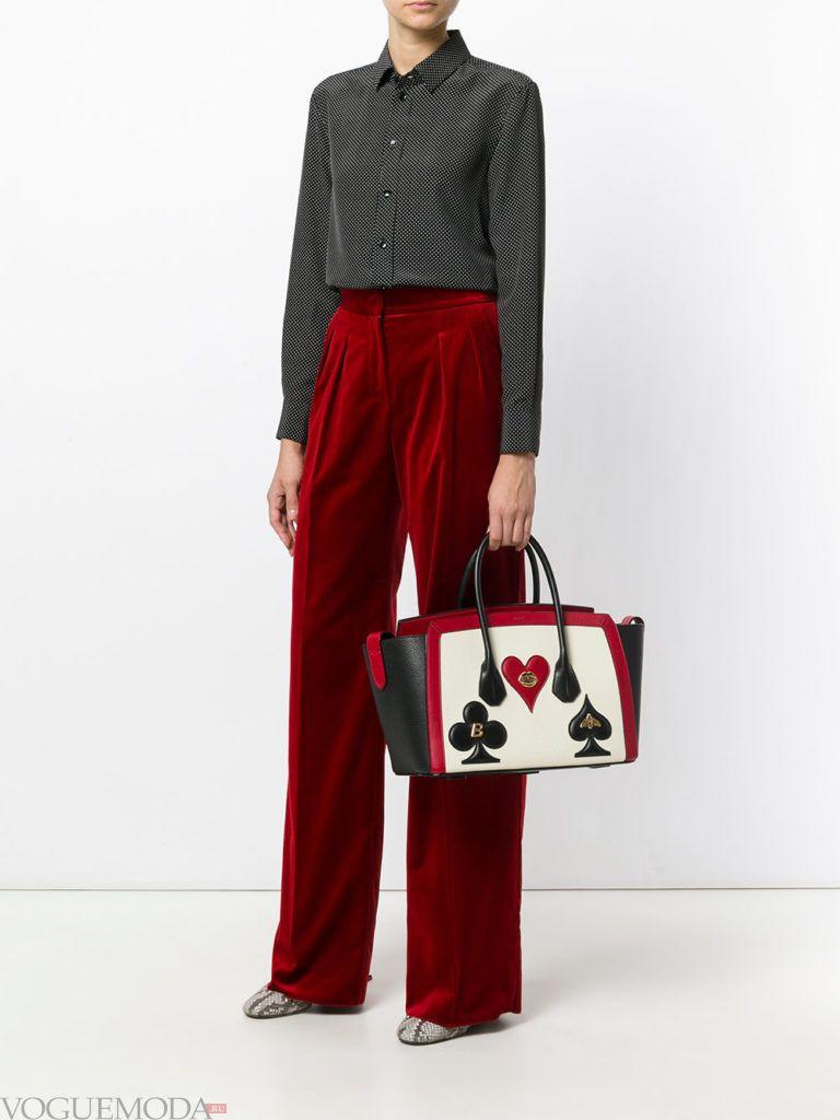 модная большая сумка с рисунком