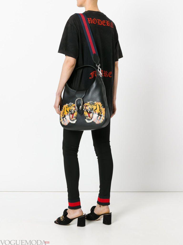 модная большая сумка с изображением