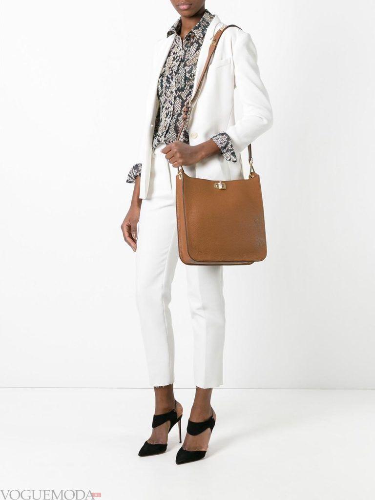 модная большая цветная сумка