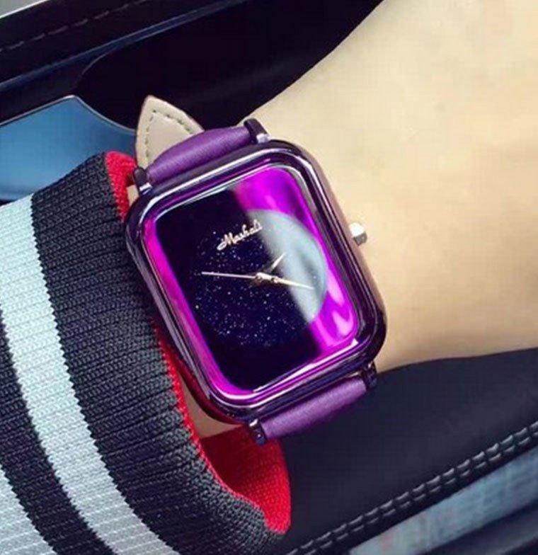 часы молодежные космос фиолетовые
